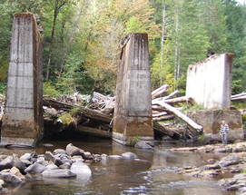 Upper Luckiamute Railroad Bridge Piers Project